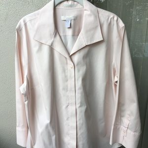 Chico's pink no-iron work style blouse